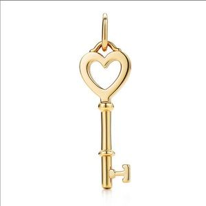 TIFFANY & CO. Heart Key Pendant in Yellow Gold